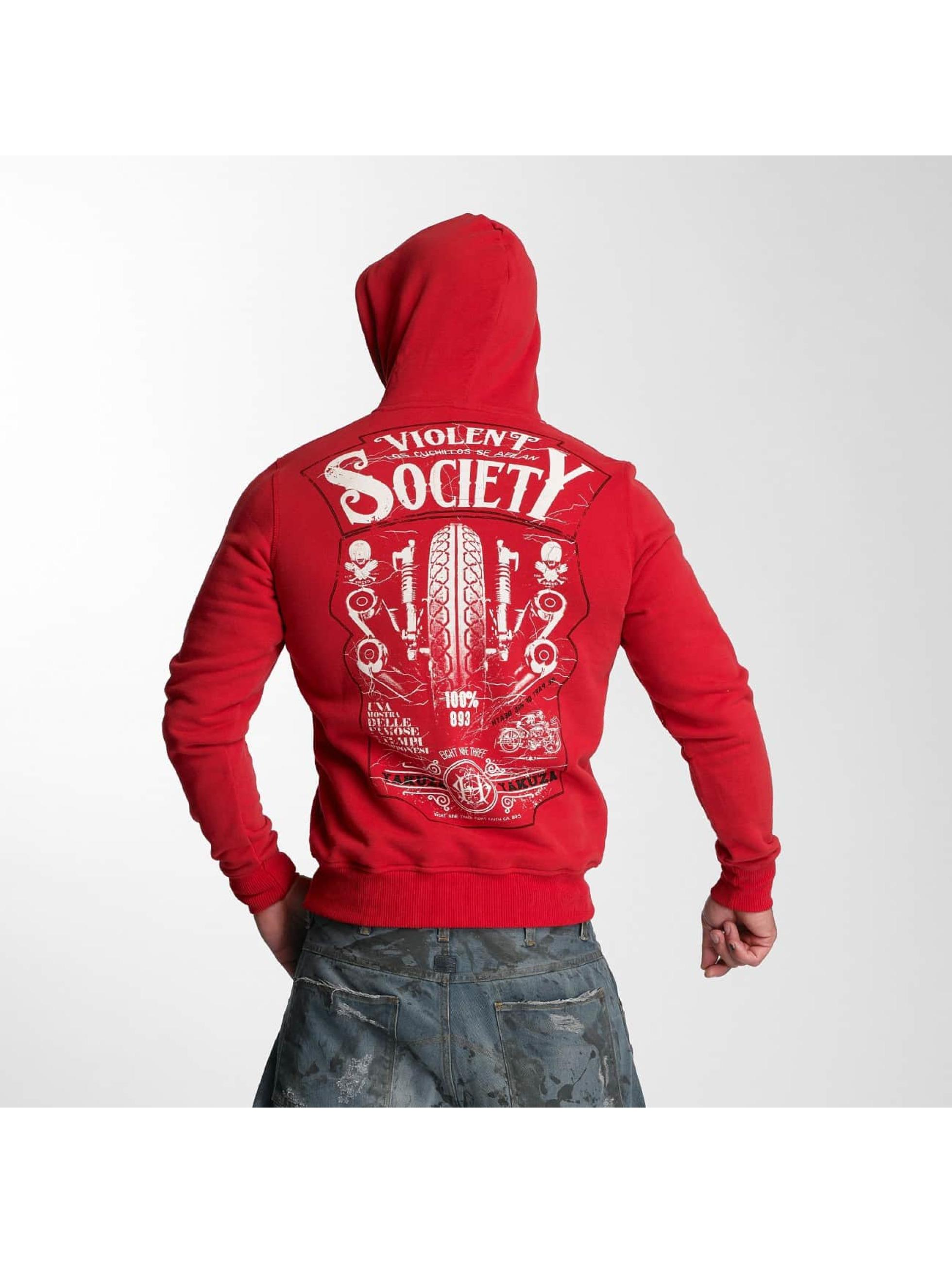 Yakuza Hoodie Violent Society red