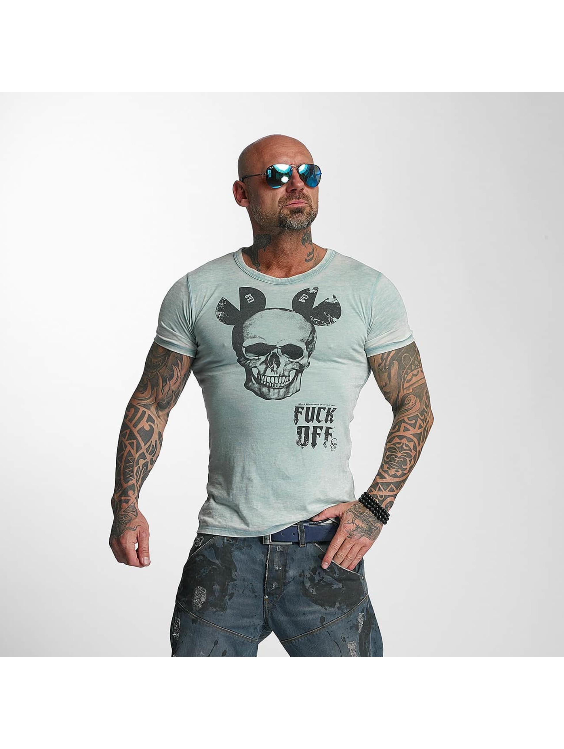Yakuza T-Shirt FxOff Burnout blue