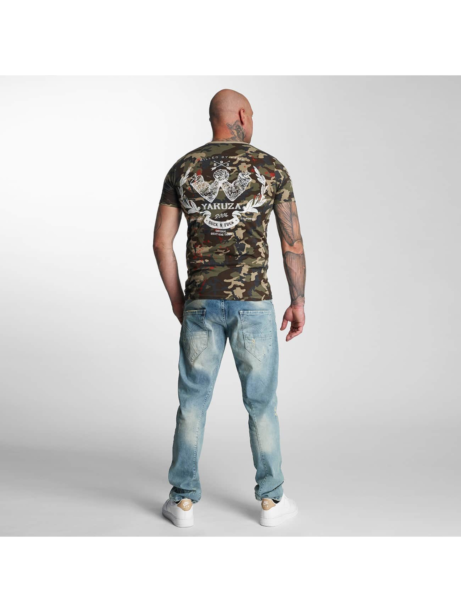 Yakuza T-Shirt Killed By Fame camouflage