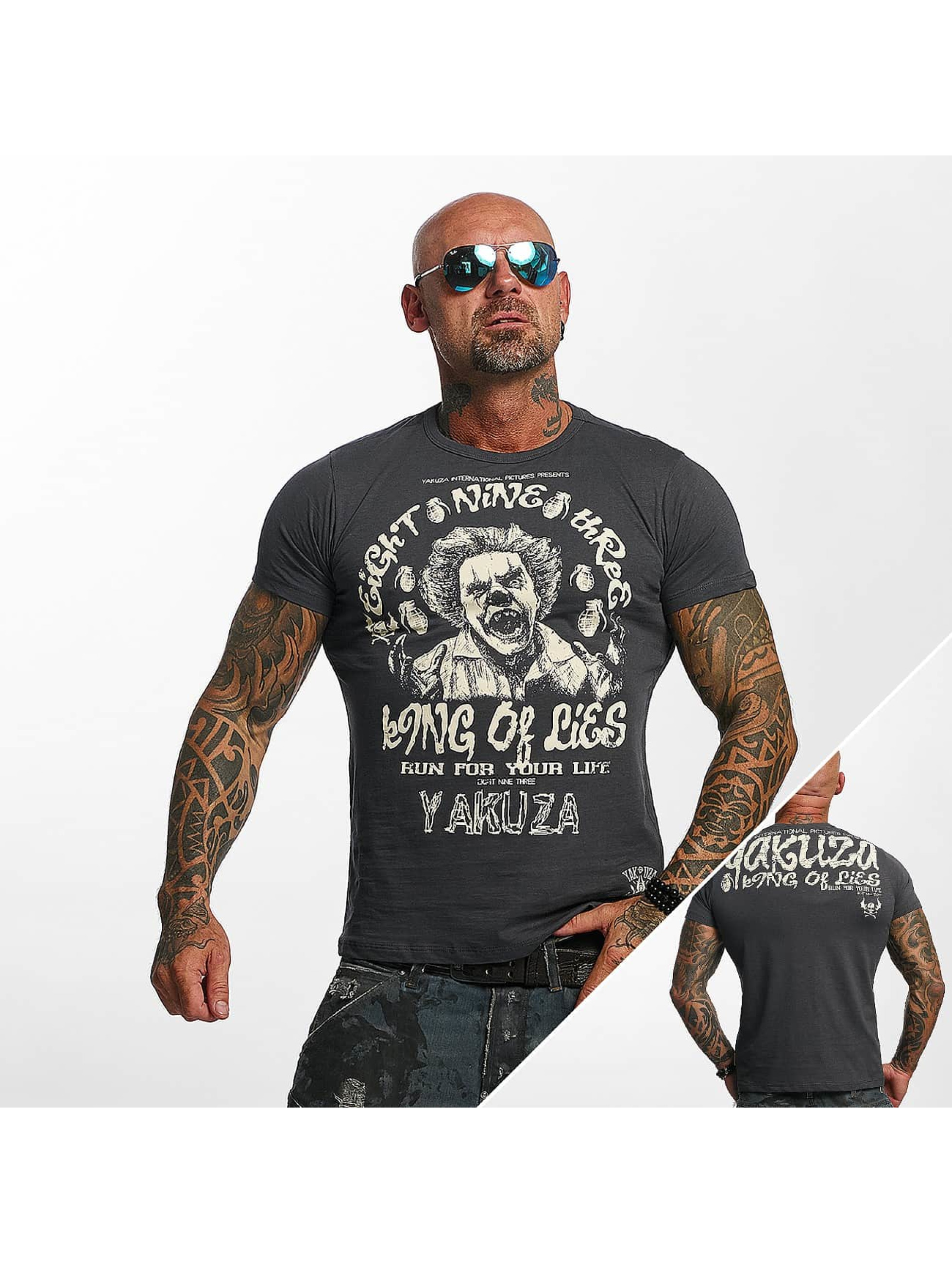 Yakuza T-Shirt King Of Lies T gray