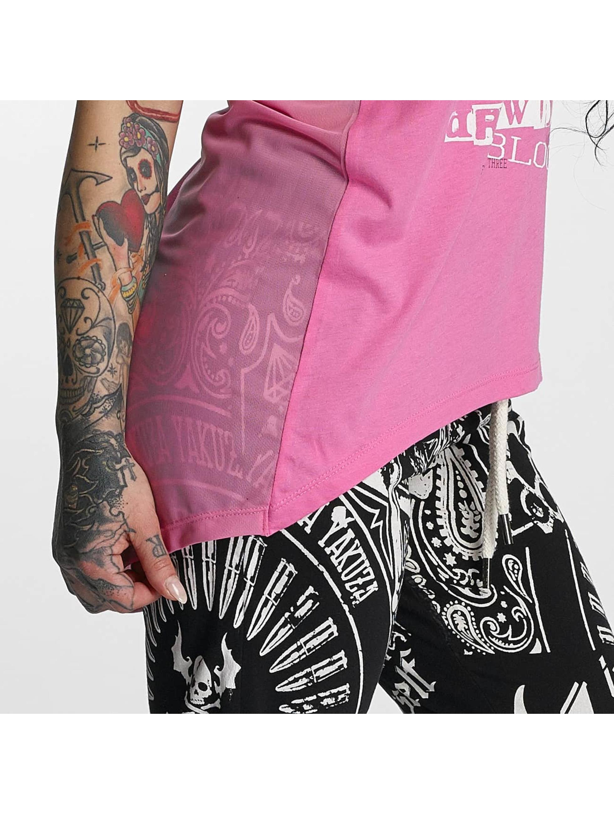 Yakuza T-Shirt Sharp Knife Limpid pink