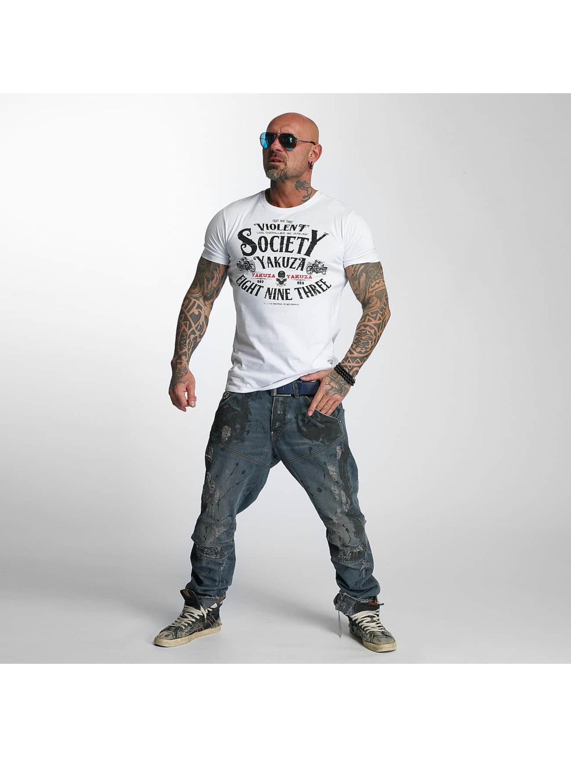 Yakuza T-Shirt Violent Society white