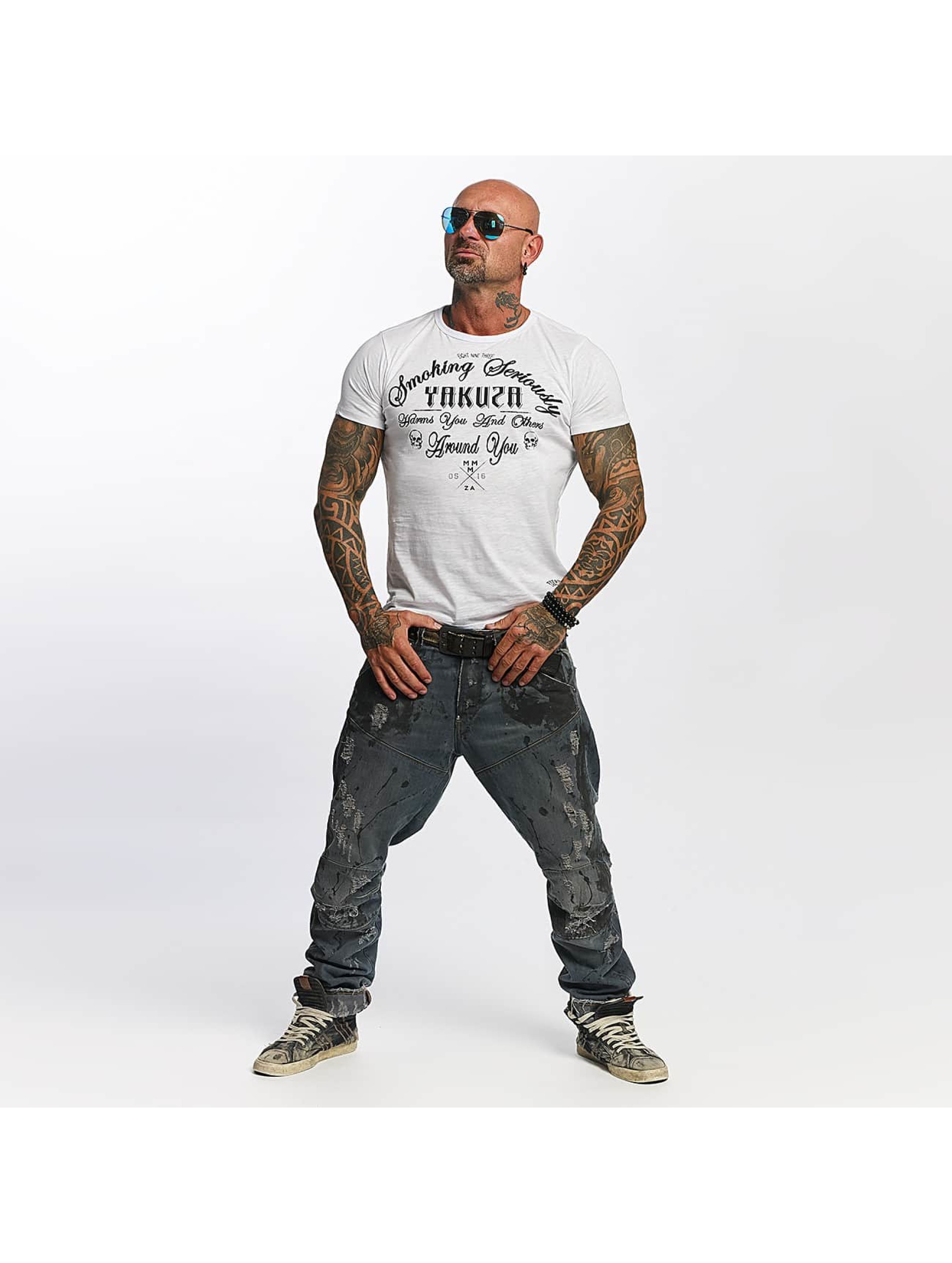 Yakuza T-Shirt Smoking Seriously white