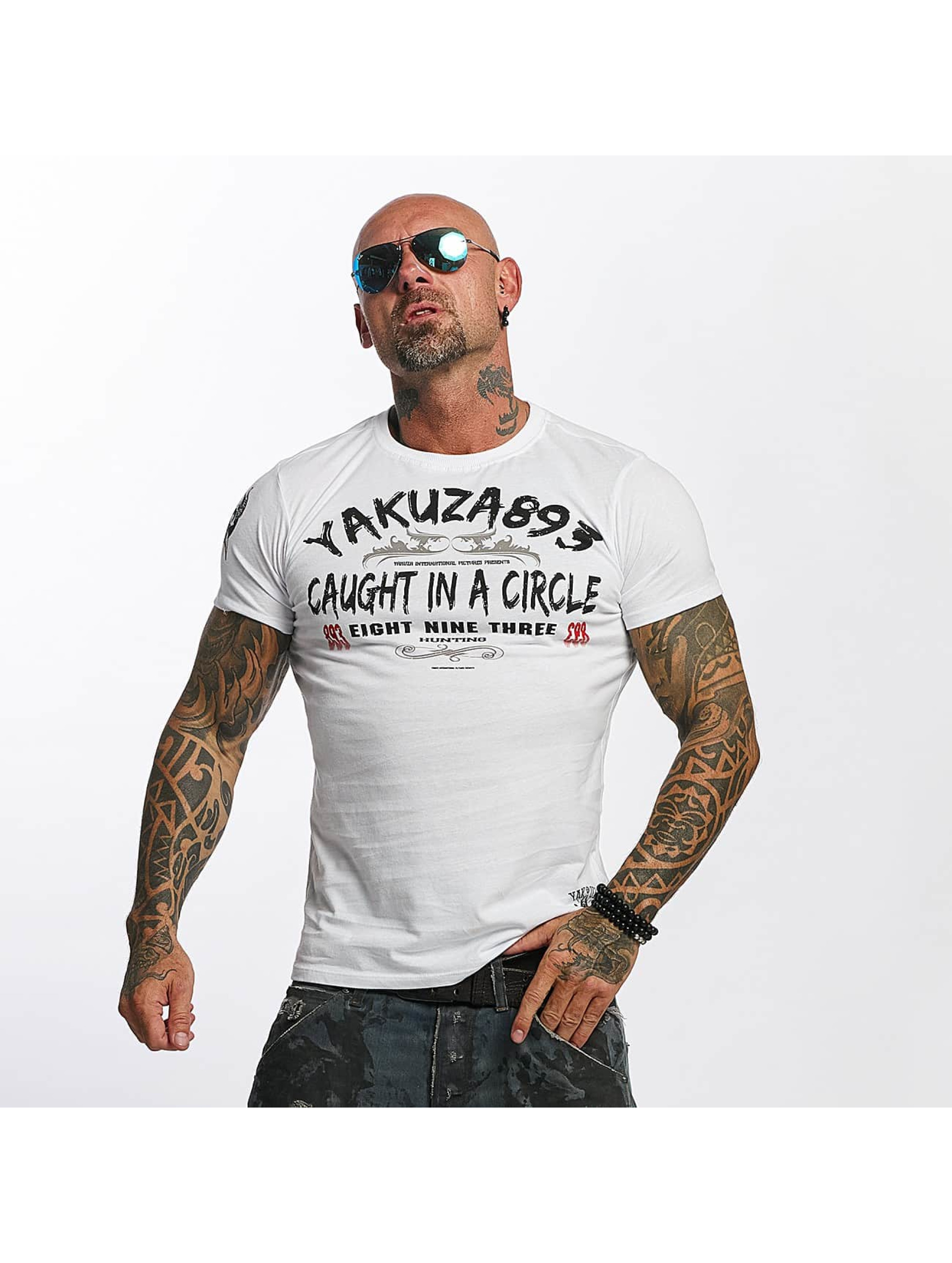 Yakuza T-Shirt Caught In A Circle white