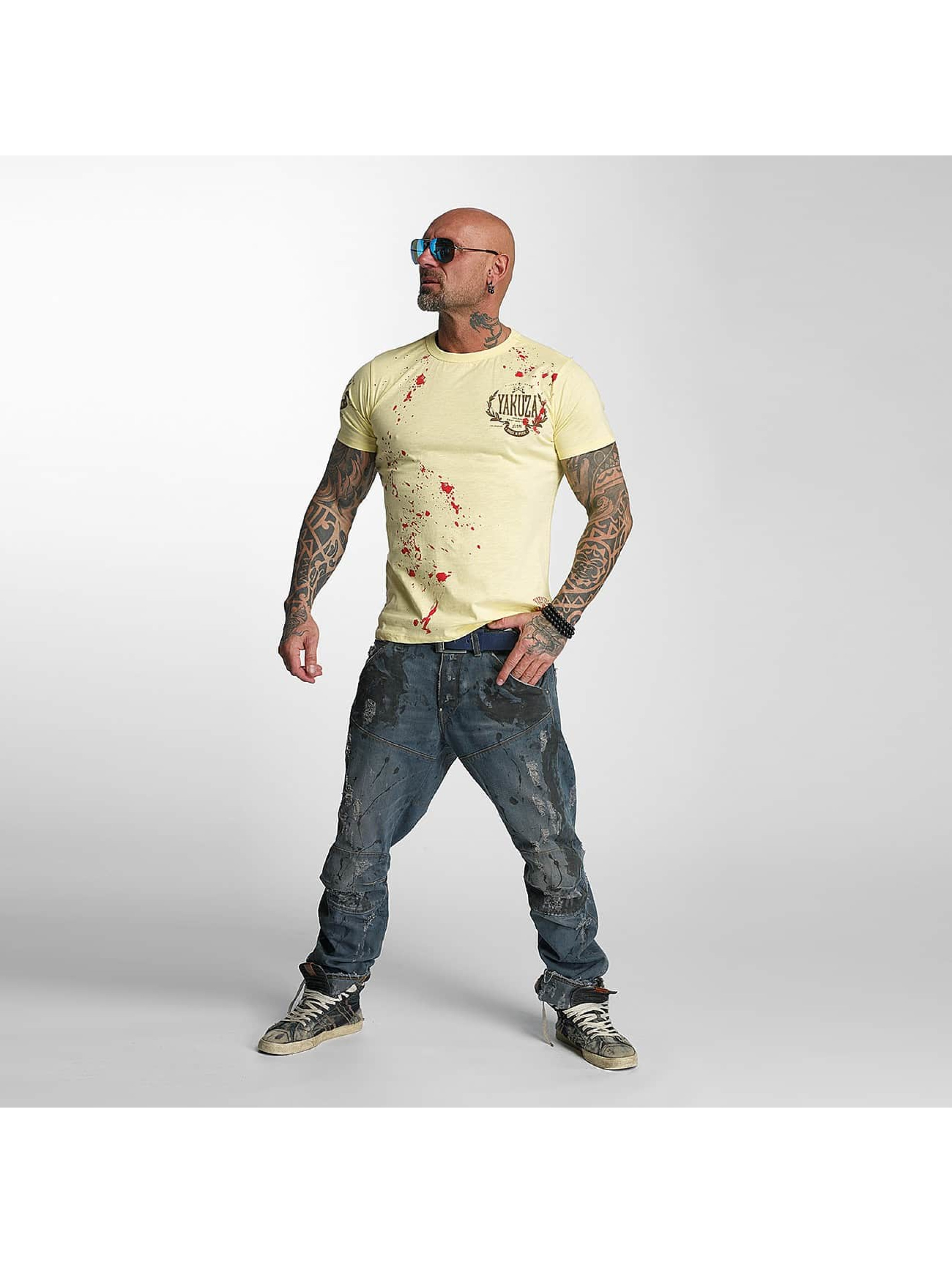 Yakuza T-Shirt Killed By Fame yellow