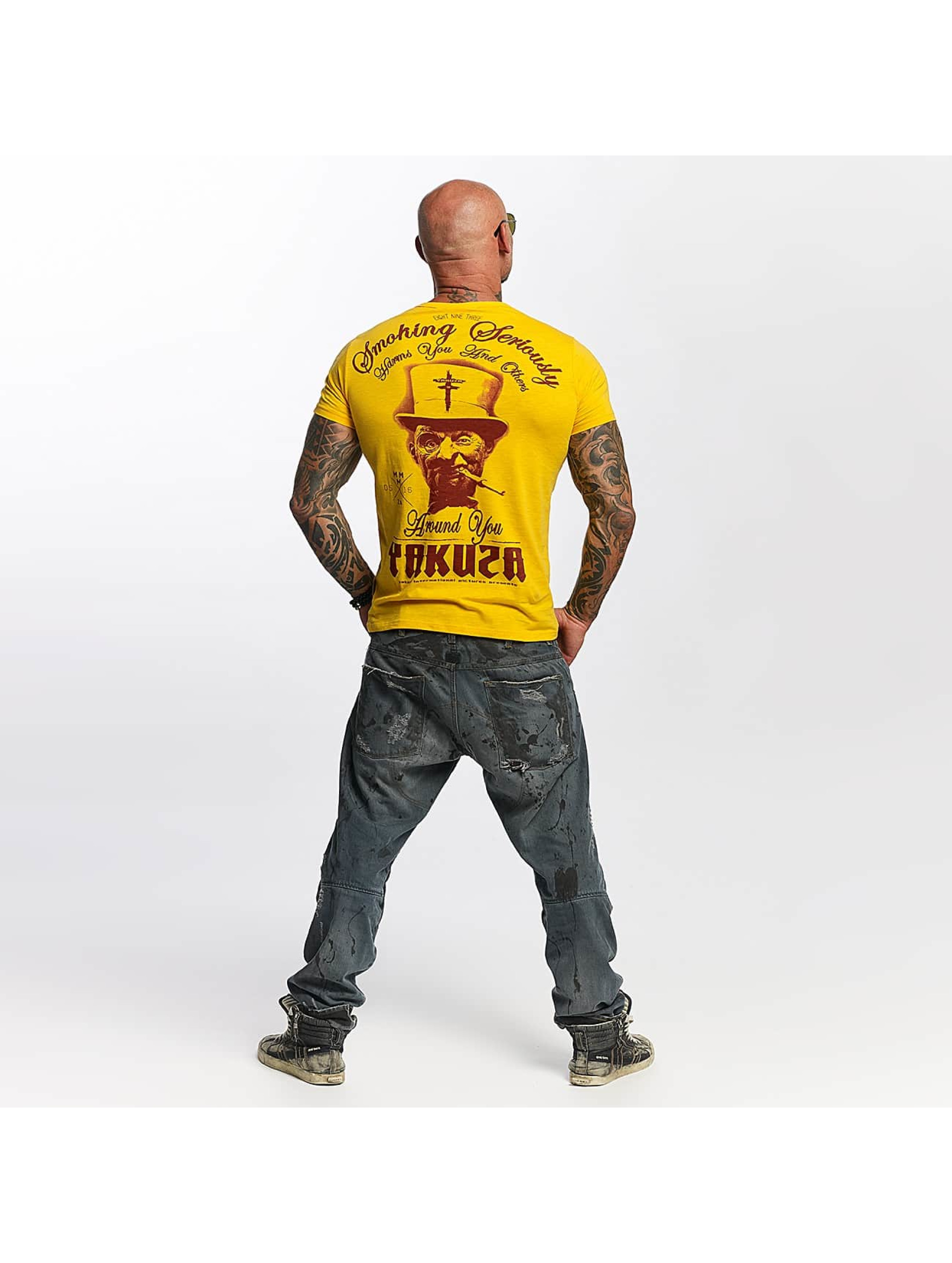 Yakuza T-Shirt Smoking Seriously yellow