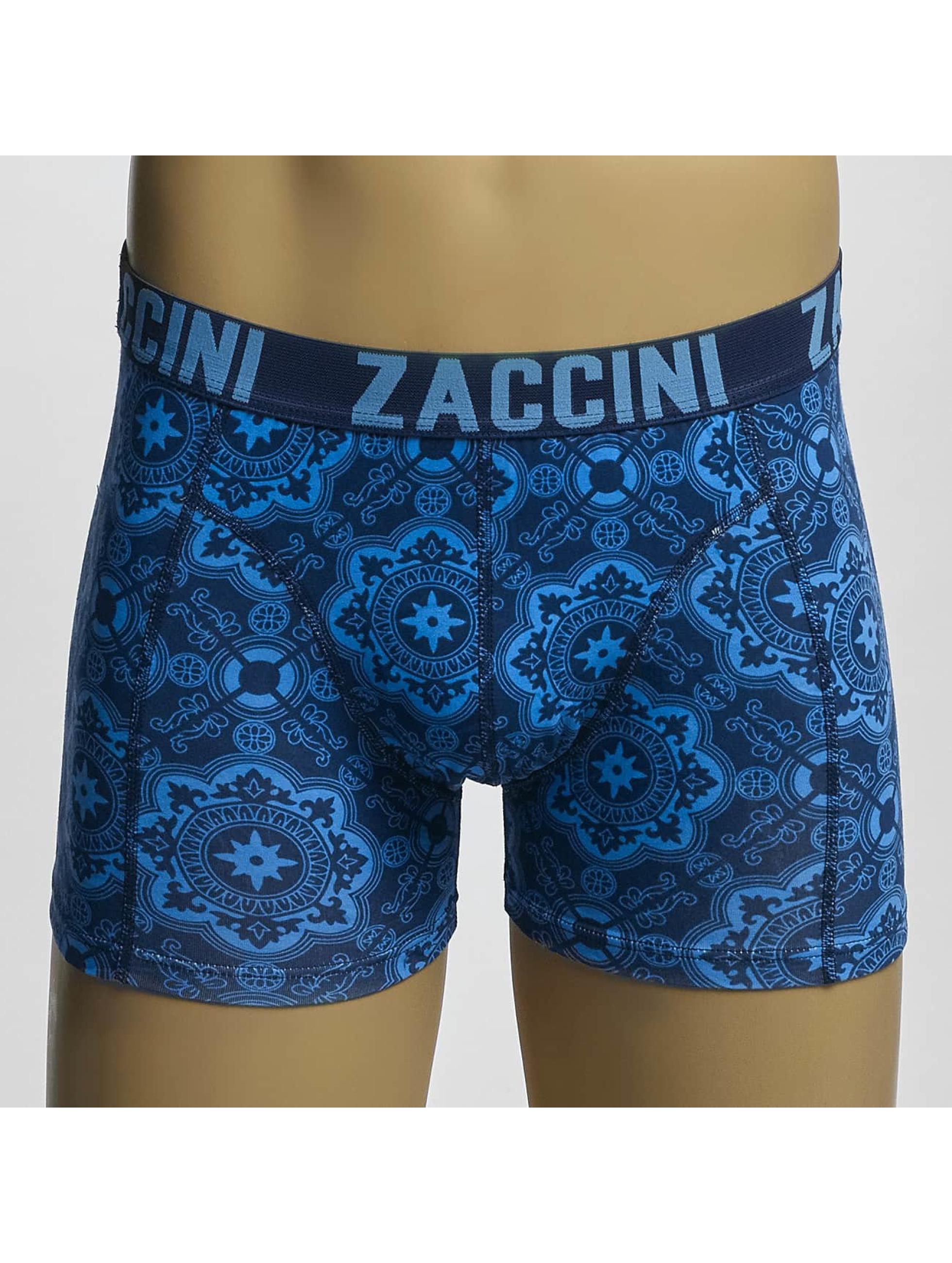 Zaccini Boxer Short Blue Tiles blue