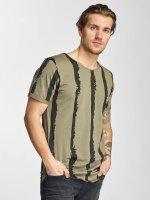 2Y T-Shirt Stripes khaki
