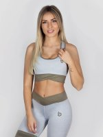 Beyond Limits Sports Bra Crossback gray