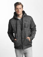 Brave Soul Zip Hoodie Through Sweat With Borg gray