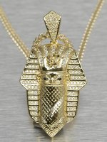 KING ICE Necklace Bandana Pharaoh gold