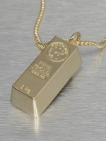 KING ICE Necklace Bar Brick gold