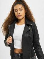 Noisy May Leather Jacket nmRebell black