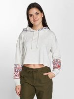 Only Hoodie onlAmber Cropped white