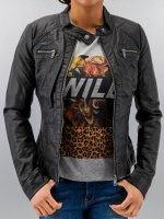 Only Leather Jacket Bandit PU Biker black