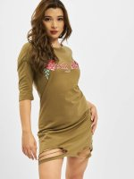 Sixth June Dress Roses khaki