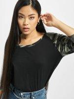 Urban Classics Longsleeve Ladies 3/4 Contrast Raglan black