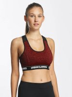 Urban Classics Sports Bra Active Melange Logo red