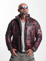 Yakuza Lightweight Jacket Trashed Quilted red