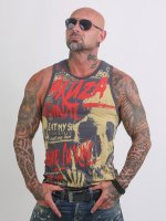 Yakuza Tank Tops Cock Face gray