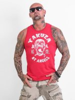 Yakuza Tank Tops Screaming Skull red
