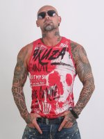 Yakuza Tank Tops Cock Face red