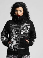 Yakuza Winter Jacket Flower Heavy black