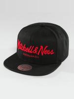 Mitchell & Ness Snapback Cap Red Pop Pinscript black