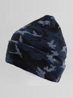 New Era Hat-1 New Era Camo Cuff Beanie Open Market blue