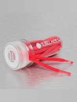 Tubelaces Shoelace White Rope Word Up II red