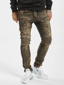 2Y Skinny Jeans Quilted  brown