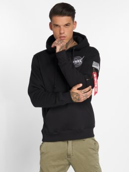 Alpha Industries Hoodie Space Shuttle black