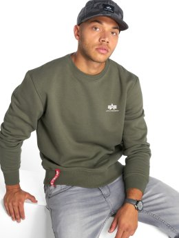 Alpha Industries Pullover Basic Small Logo olive