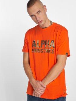 Alpha Industries T-Shirt Camo Print orange