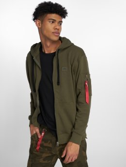 Alpha Industries Zip Hoodie X-Fit green