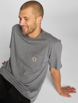 Carhartt WIP T-Shirt Pocket gray