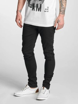 Criminal Damage Skinny Jeans Ripper black