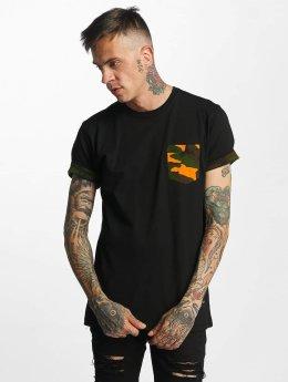 Criminal Damage Dazzle T-Shirt Black/Orange