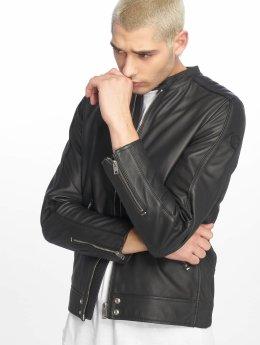 Diesel Leather Jacket L-Quad black