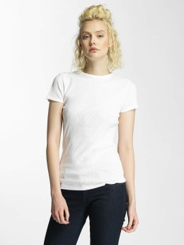 G-Star T-Shirt Silber Slim Trin Rib white