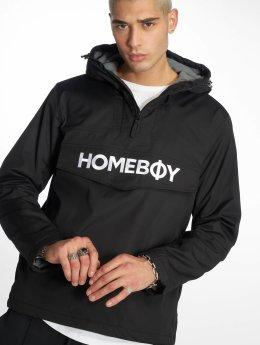 Homeboy Lightweight Jacket Eskimo Brother Bold Wording Logo black