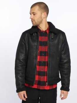 Jack & Jones Leather Jacket Jpral black