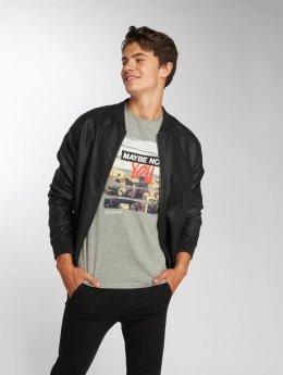 Jack & Jones T-Shirt jorSup Crew Neck gray