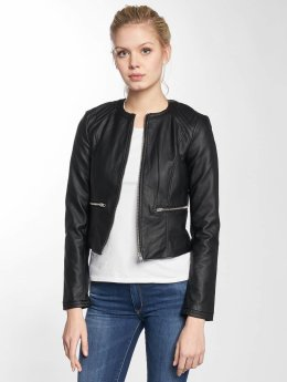 JACQUELINE de YONG Leather Jacket jdyDream black
