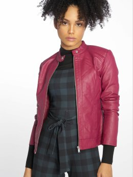 JACQUELINE de YONG Leather Jacket jdyDallas red
