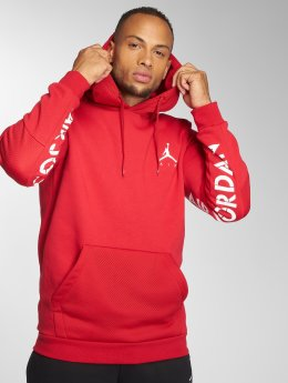 Jordan Hoodie Sportswear Jumpman Hybrid Fleece red