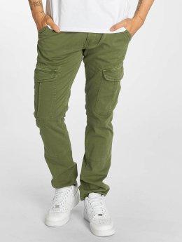 Mavi Jeans Yves Cargo Button Fly Cargo Pants Leaf Coloured