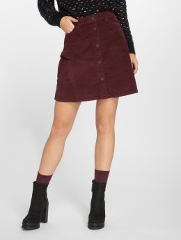Noisy May Skirt nmSunny Corduroy Skater red