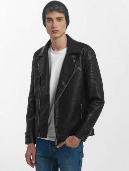 Only & Sons Leather Jacket onsKarter Biker black