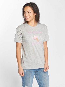 Only onlFurry Ice Cream T-Shirt Light Grey Melange